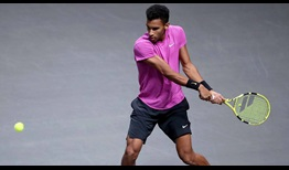 Felix Auger-Aliassime owns a 14-4 record on indoor hard courts this year.
