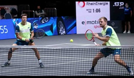 Kevin Krawietz (right) and Andreas Mies (left) will contest their fifth ATP Tour final at the bett1HULKS Championship (4-0).