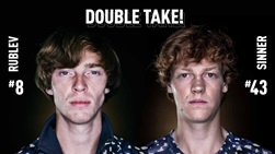 Andrey Rublev (left) and Jannik Sinner (right)