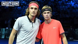 Stefanos Tsitsipas and Andrey Rublev met in the last four at the 2018 Next Gen ATP Finals.