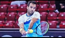 Salvatore Caruso upsets second seed Felix Auger-Aliassime to reach the Sofia quarter-finals.