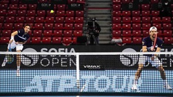 Jurgen Melzer (right) and Edouard Roger-Vasselin (left) are attempting to capture their second ATP Tour team title at the Sofia Open.