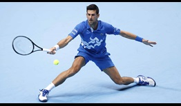 Novak Djokovic is aiming to reach his eighth championship match at the Nitto ATP Finals.