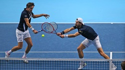 Jurgen Melzer (right) and Edouard Roger-Vasselin (left) will face Wesley Koolhof and Nikola Mektic for the Nitto ATP Finals trophy.