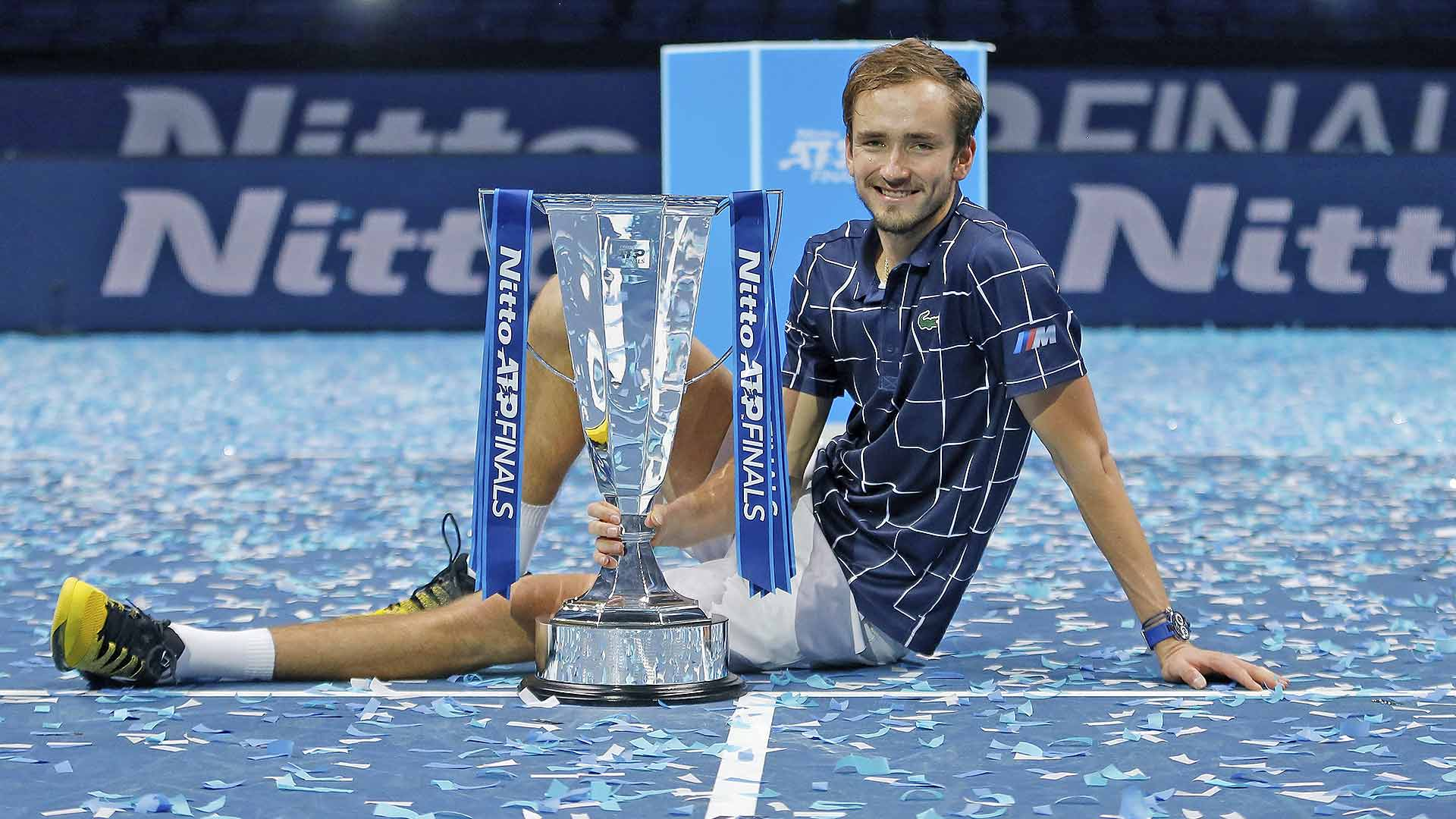 <a href='https://www.atptour.com/en/players/daniil-medvedev/mm58/overview'>Daniil Medvedev</a> is the undefeated 2020 <a href='https://www.atptour.com/en/tournaments/nitto-atp-finals/605/overview'>Nitto ATP Finals</a> champion.