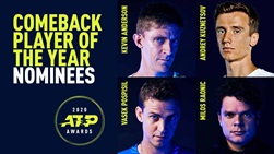 ATP Comeback Player of the Year Nominees