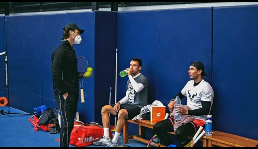 Bautista Agut Trains With Nadal In Mallorca Ahead Of ATP Cup