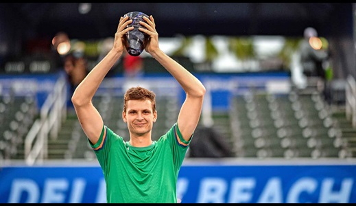 Hurkacz Fends Off Korda To Take Delray Beach Title