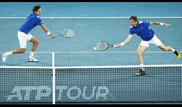 Roger-Vasselin Mahut ATP Cup 2021 Friday Volley