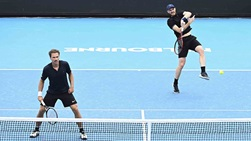 Jamie Murray (right) and Bruno Soares (left) will face Marcelo Arevalo and Matwe Middelkoop in the Australian Open quarter-finals.