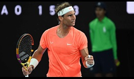 Nadal Australian Open 2021 Day 10 Celebration