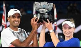 Ram Krejcikova Australian Open 2021 Mixed Doubles Trophy