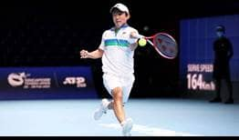 Nishioka Singapore 2021 Monday Forehand