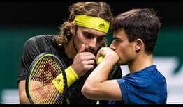 Tsitsipas-Brothers-Rotterdam-2021-Wednesday