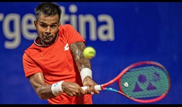 Sumit Nagal earns the biggest win of his career by defeating second seed Cristian Garin in straight sets on Wednesday.