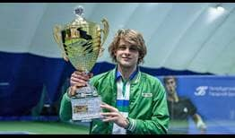 Zizou Bergs is the champion at the Challenger 50 event in Saint Petersburg, Russia.