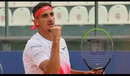 Third seed Lorenzo Sonego beats second seed Taylor Fritz on Saturday for a place in the Cagliari final.