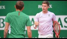 Daniel Evans and Neal Skupski (right) are closing in on their second ATP Masters 1000 final.