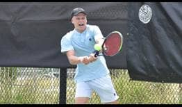 Jenson Brooksby battles at the Orlando Challenger.