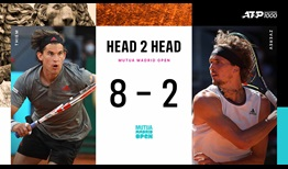 Dominic Thiem and Alexander Zverev will meet for the second time at the Mutua Madrid Open.