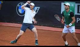 Andy Murray y Liam Broady vencieron a Max Purcell y Luke Saville el miércoles en Roma.