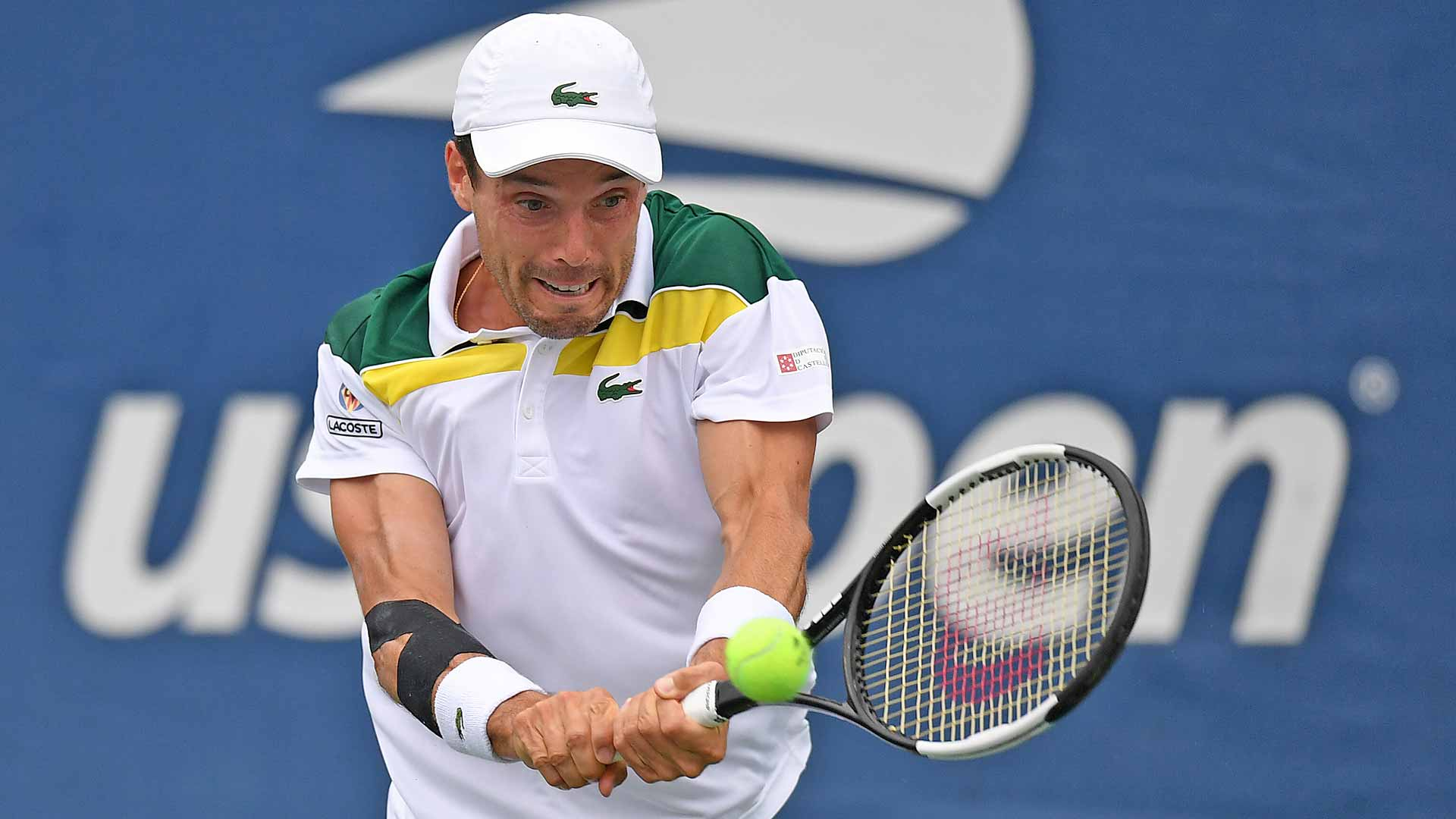 """<a href='https://www.atptour.com/en/players/roberto-bautista-agut/bd06/overview'>Roberto Bautista Agut</a>""""><br /><em><sup>Photo Credit: Rhea Nall/USTA<br /></sup></em>The 33-year-old lost just seven games in his first-round match against Aussie <a href="""