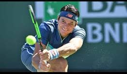 Milos Raonic seeks a fourth BNP Paribas Open semi-final berth.