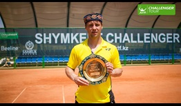Ricardas Berankis clinches his eighth ATP Challenger Tour title in Shymkent, Kazakhstan.