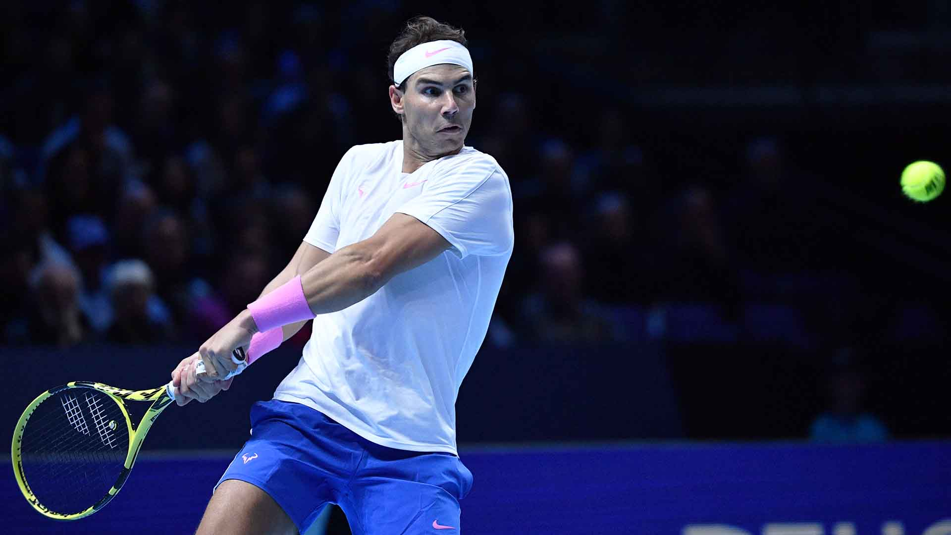 <a href='https://www.atptour.com/en/players/rafael-nadal/n409/overview'>Rafael Nadal</a> broke serve on two occasions to beat <a href='https://www.atptour.com/en/players/stefanos-tsitsipas/te51/overview'>Stefanos Tsitsipas</a> in three sets at the <a href='https://www.atptour.com/en/tournaments/nitto-atp-finals/605/overview'>Nitto ATP Finals</a> on Friday.