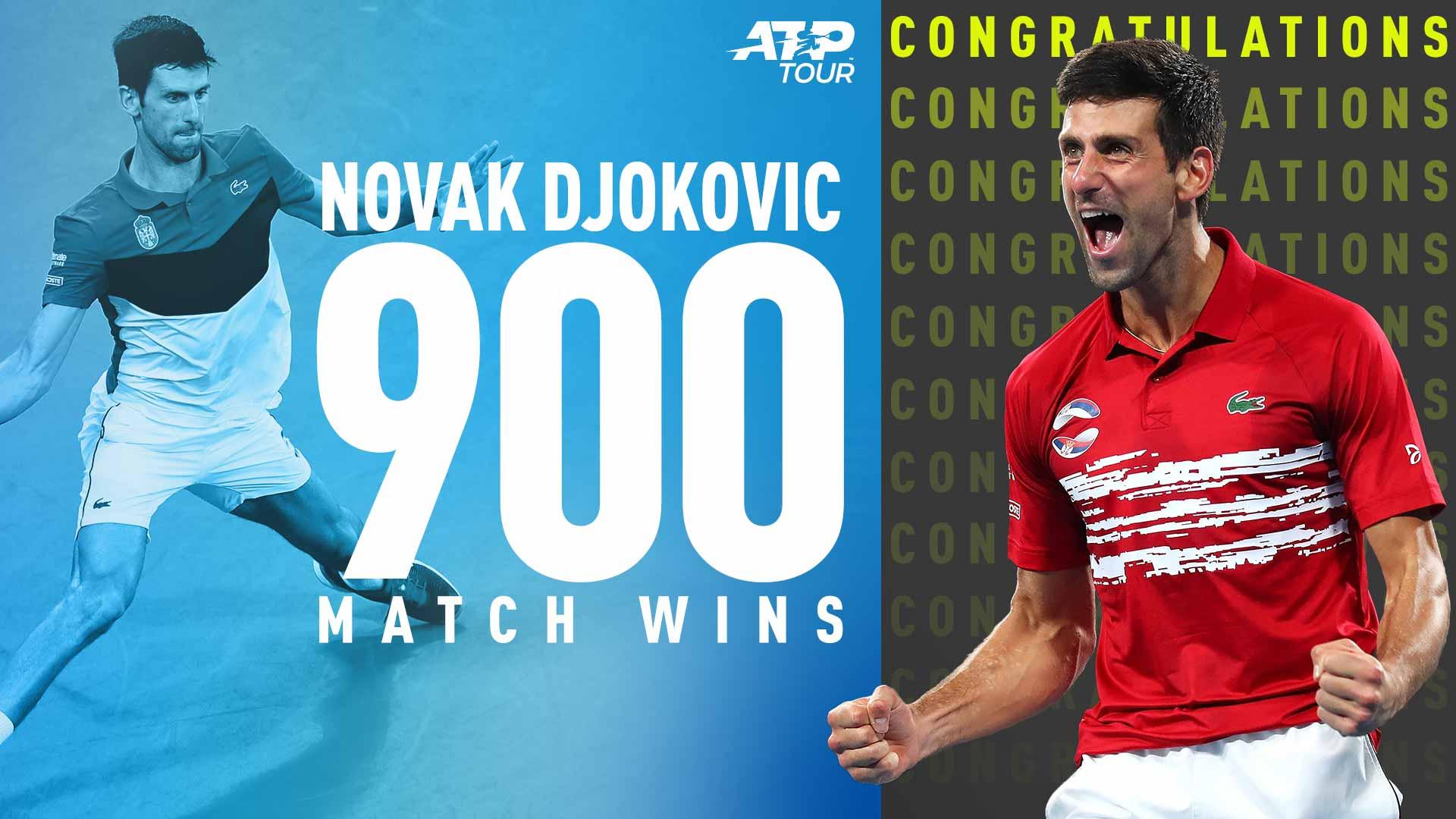 Atp Tour Tribute Novak Djokovic Reaches 900 Match Wins Atp Tour Tennis