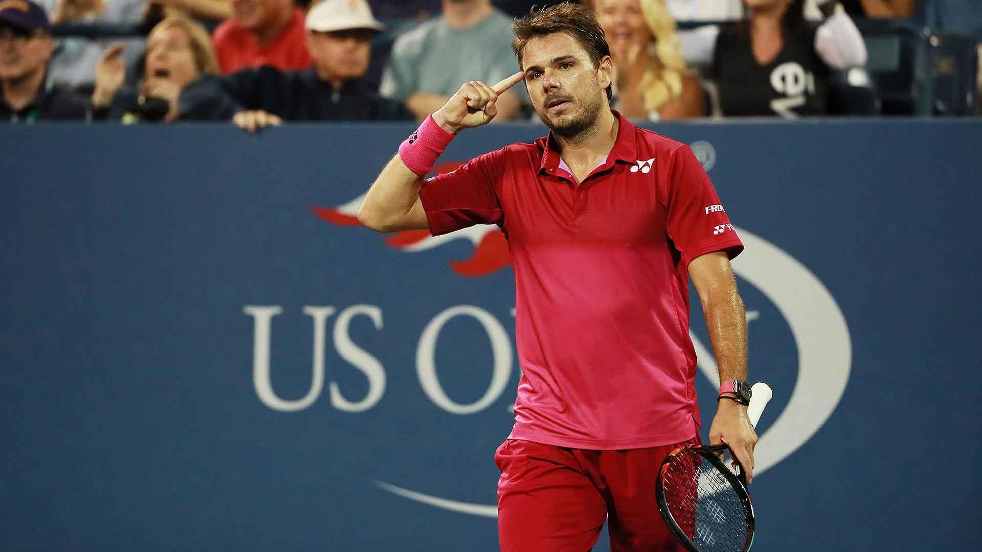 Wawrinka Survives Evans US Open 2016   ATP Tour