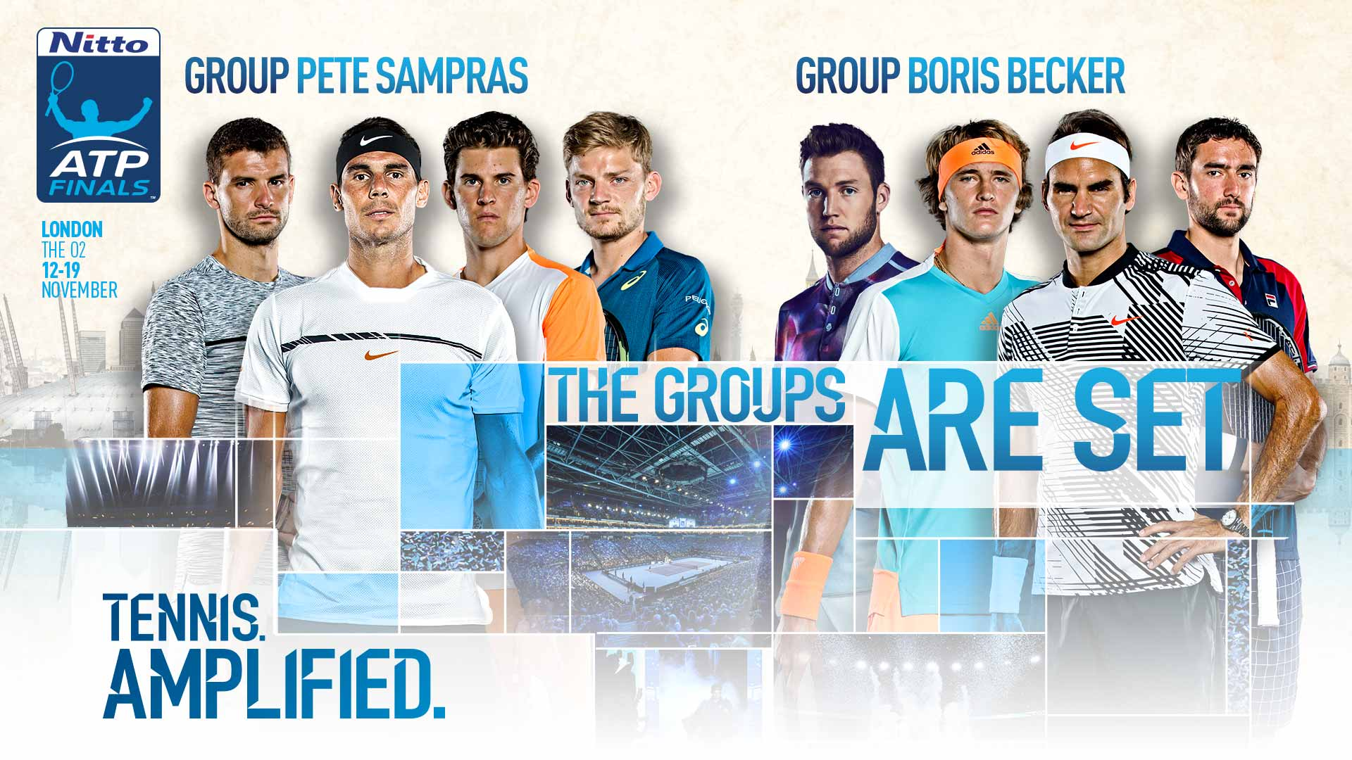 Draw Announced For 2017 Nitto Atp Finals Atp Tour Tennis