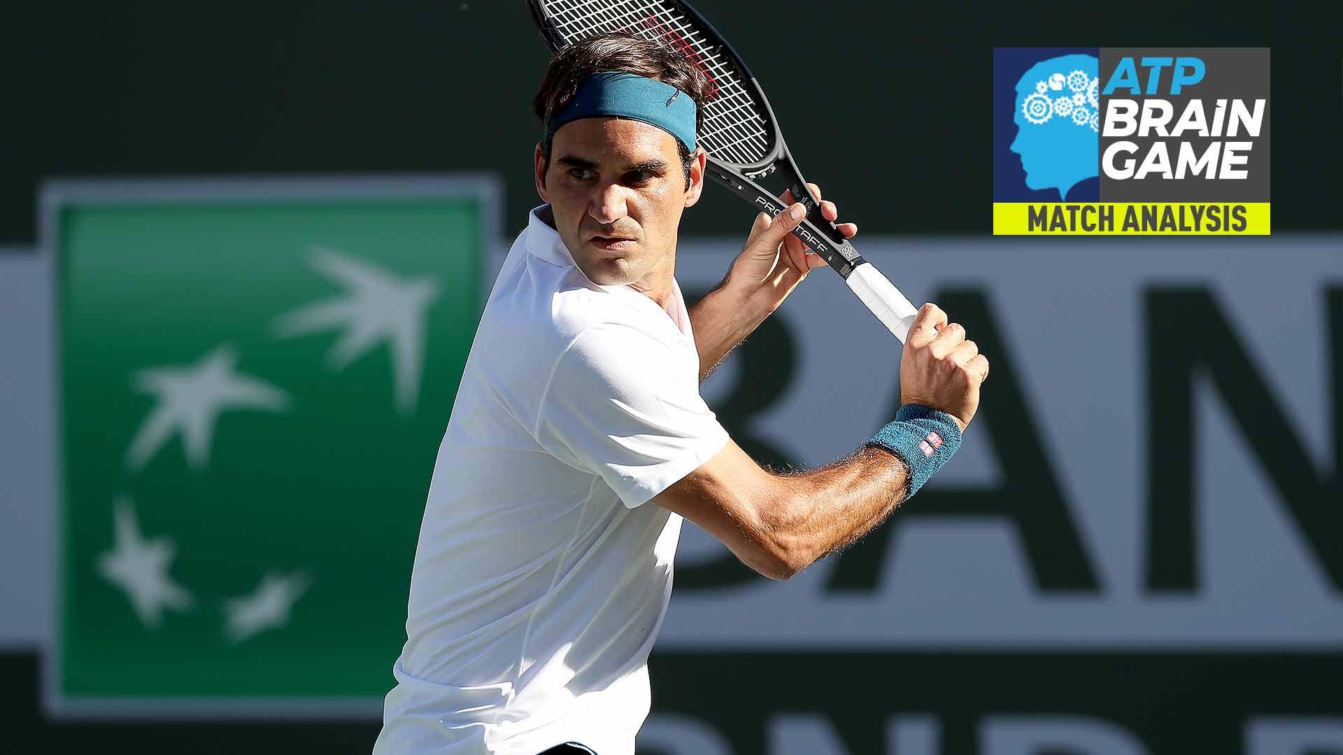 Roger Federer's Backhand Struggles Clear Way For Thiem Indian Wells   ATP Tour   Tennis