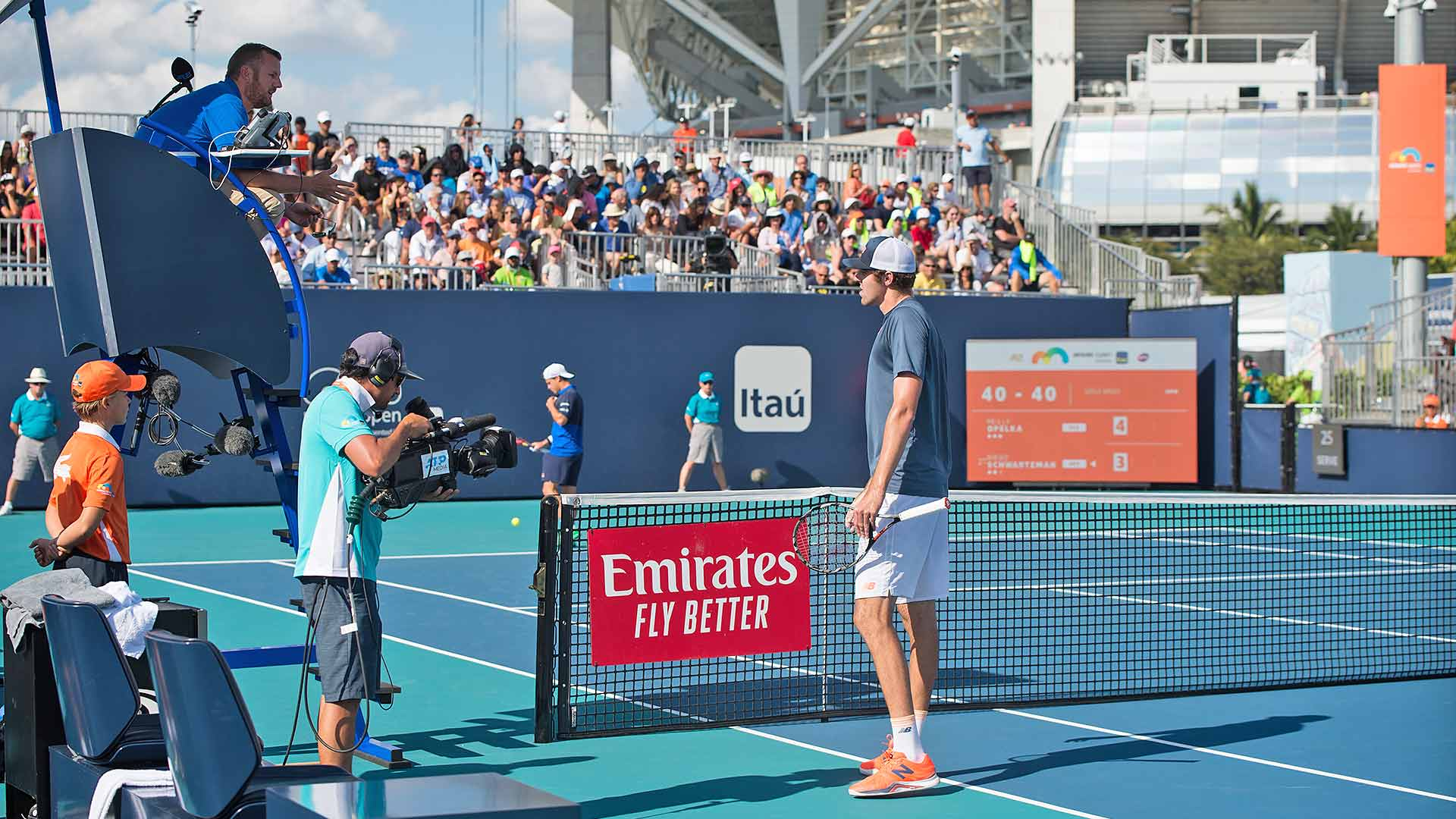 Opelka Calls Time Out At Miami Open Due To Sun Reflection Atp Tour Tennis