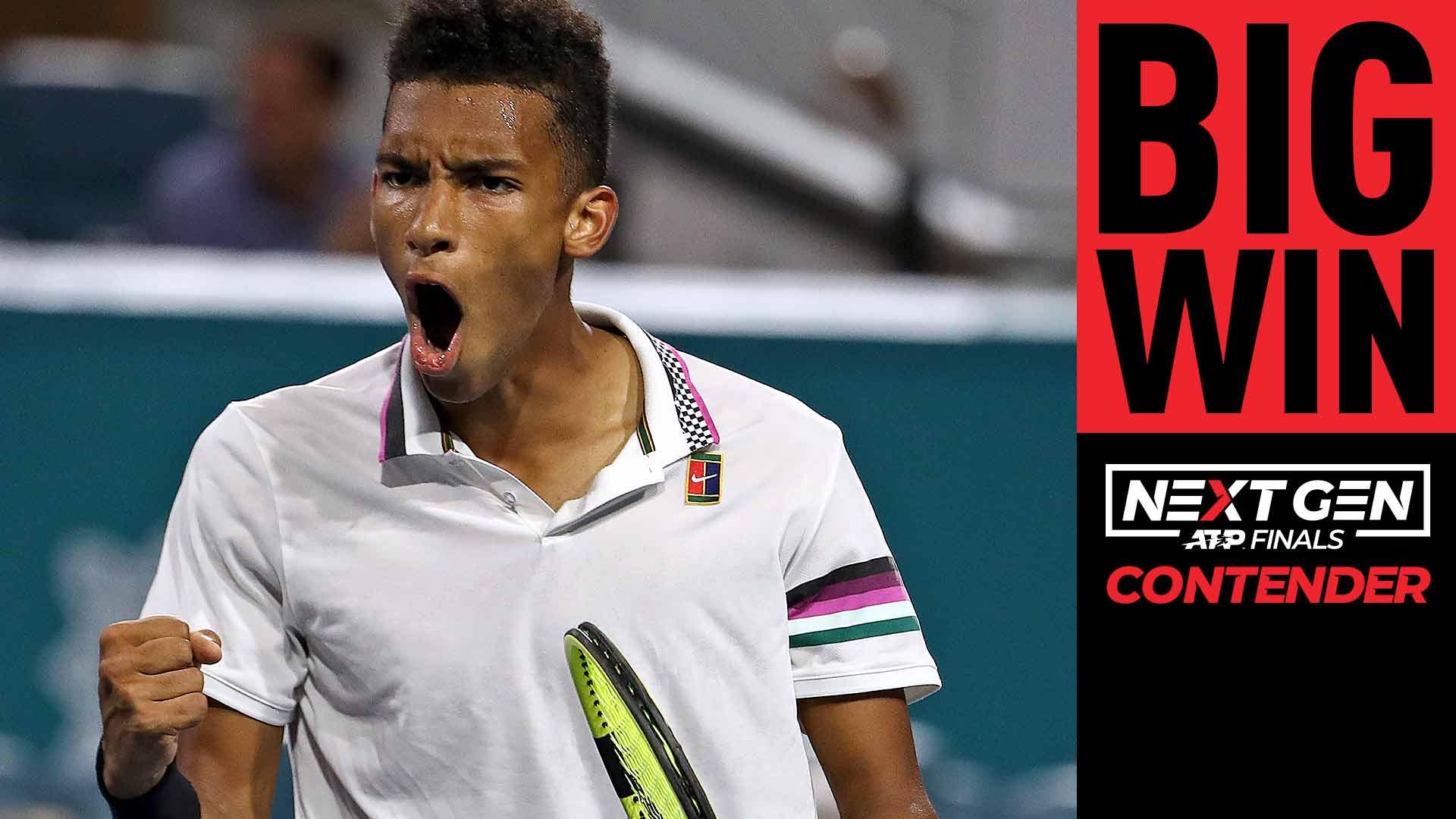 4ea96259719 Felix Auger-Aliassime beat Borna Coric to become youngest ever Miami  semi-finalist