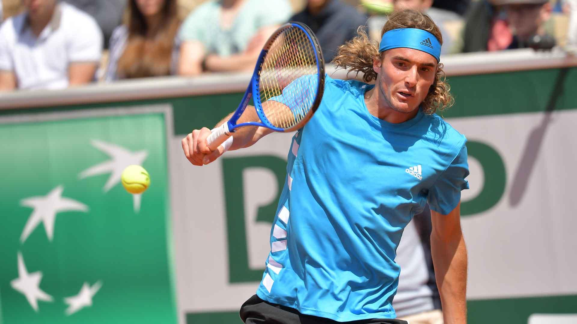 Tsitsipas Pumped Up After Dellien Win At Roland Garros   ATP