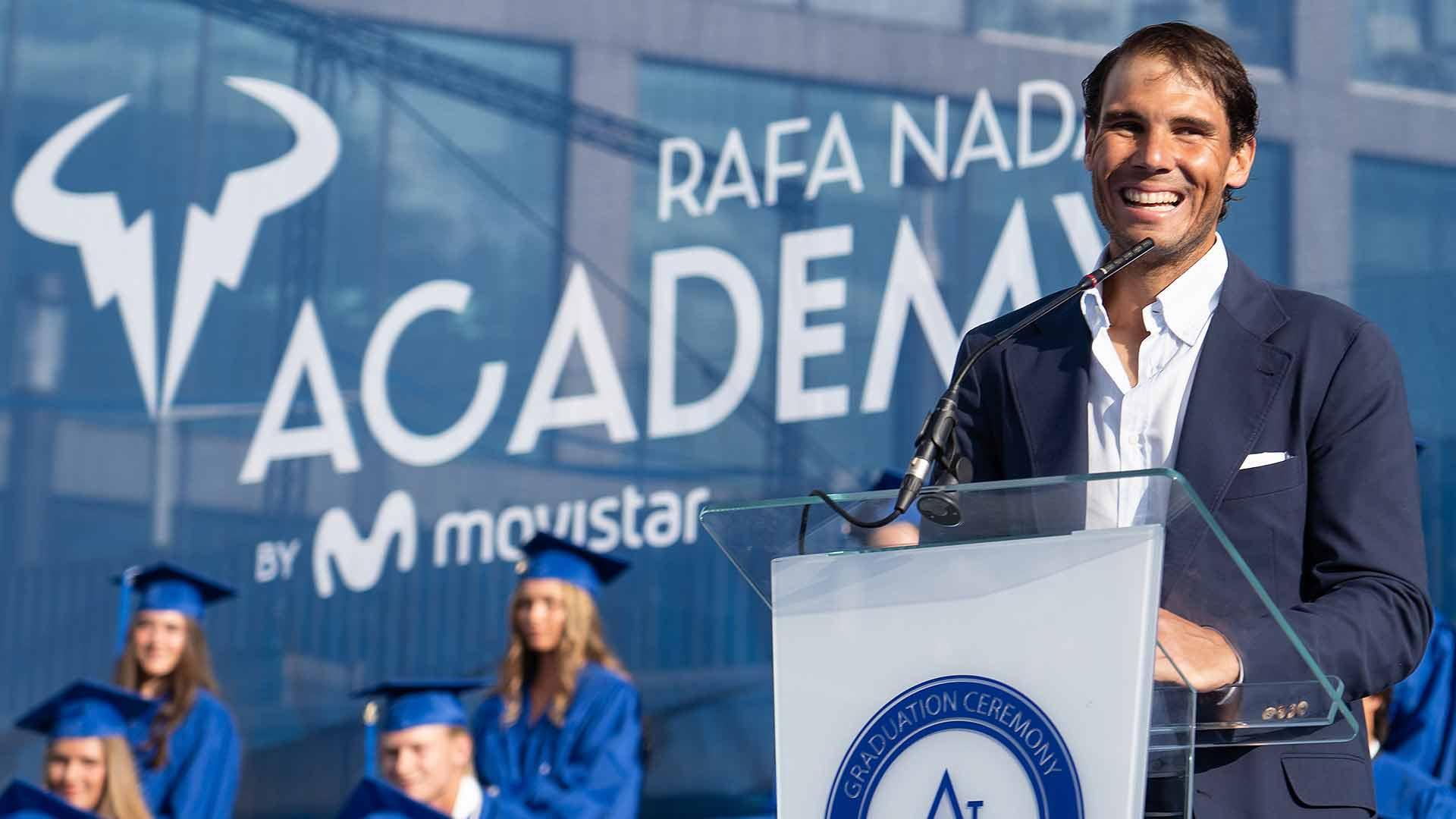Rafael Nadal, David Ferrer Offer Wisdom To Academy Graduating Class | ATP Tour | Tennis