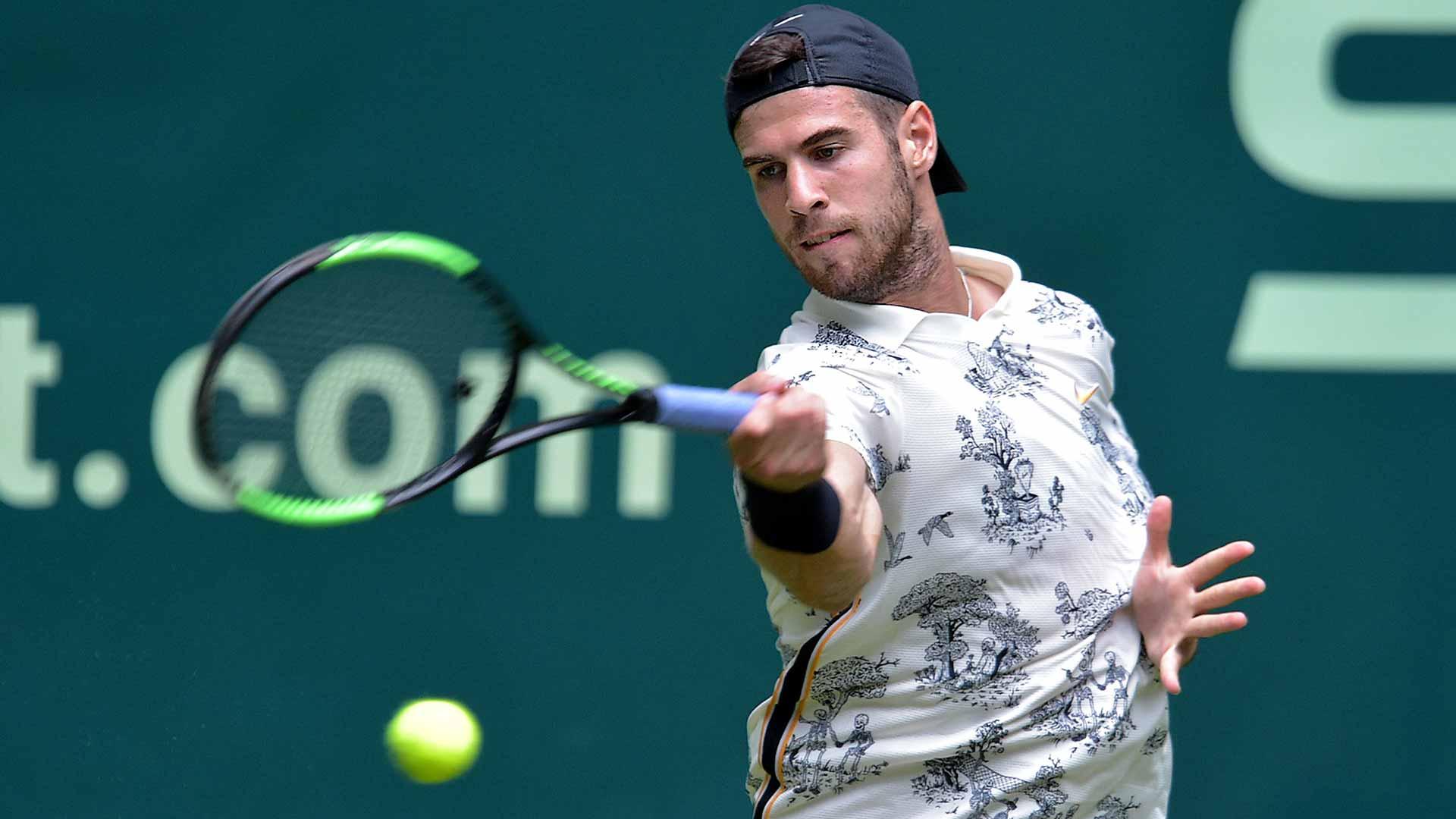 Karen Khachanov beats Miomir Kecmanovic at the NOVENTI OPEN in Halle | ATP Tour | Tennis
