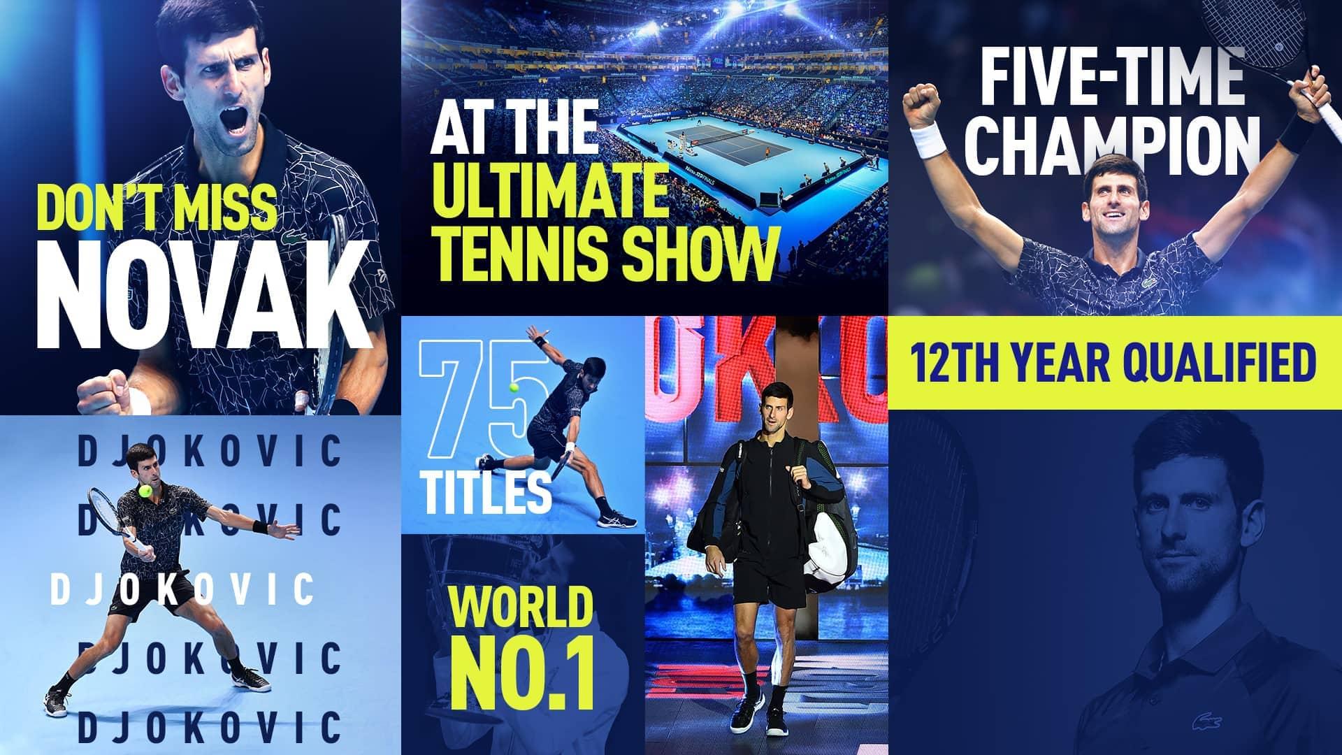 Novak Djokovic Joins Rafael Nadal At 2019 Nitto Atp Finals Atp Tour Tennis