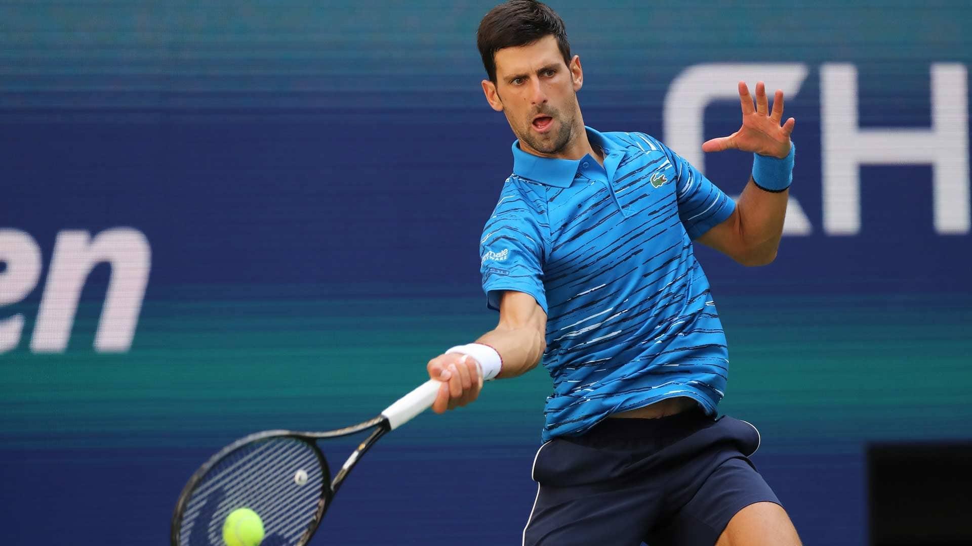 Novak Djokovic Defeats Roberto Carballes Baena At Us Open Atp Tour Tennis