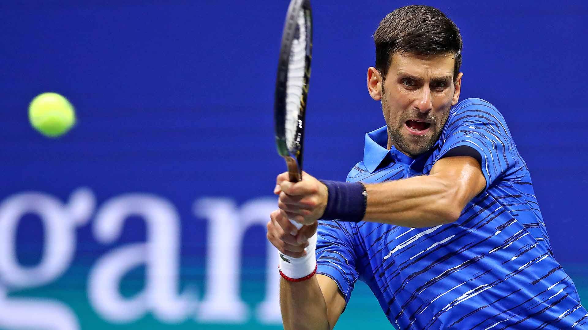 Us Open Tennis Novak Djokovic Matches Pete Sampras With 71st Us Open Match Win Atp Tour Tennis