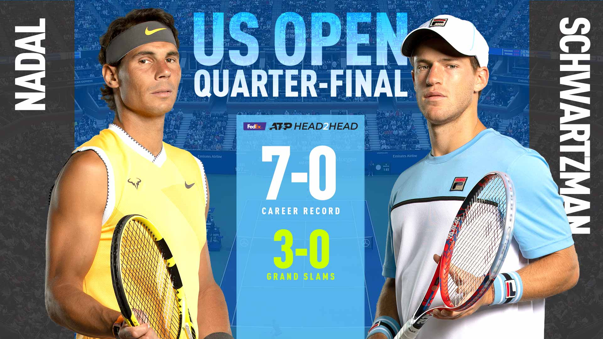 Qf Preview Rafael Nadal Diego Schwartzman Clash In Ashe Us Open 2019 Atp Tour Tennis