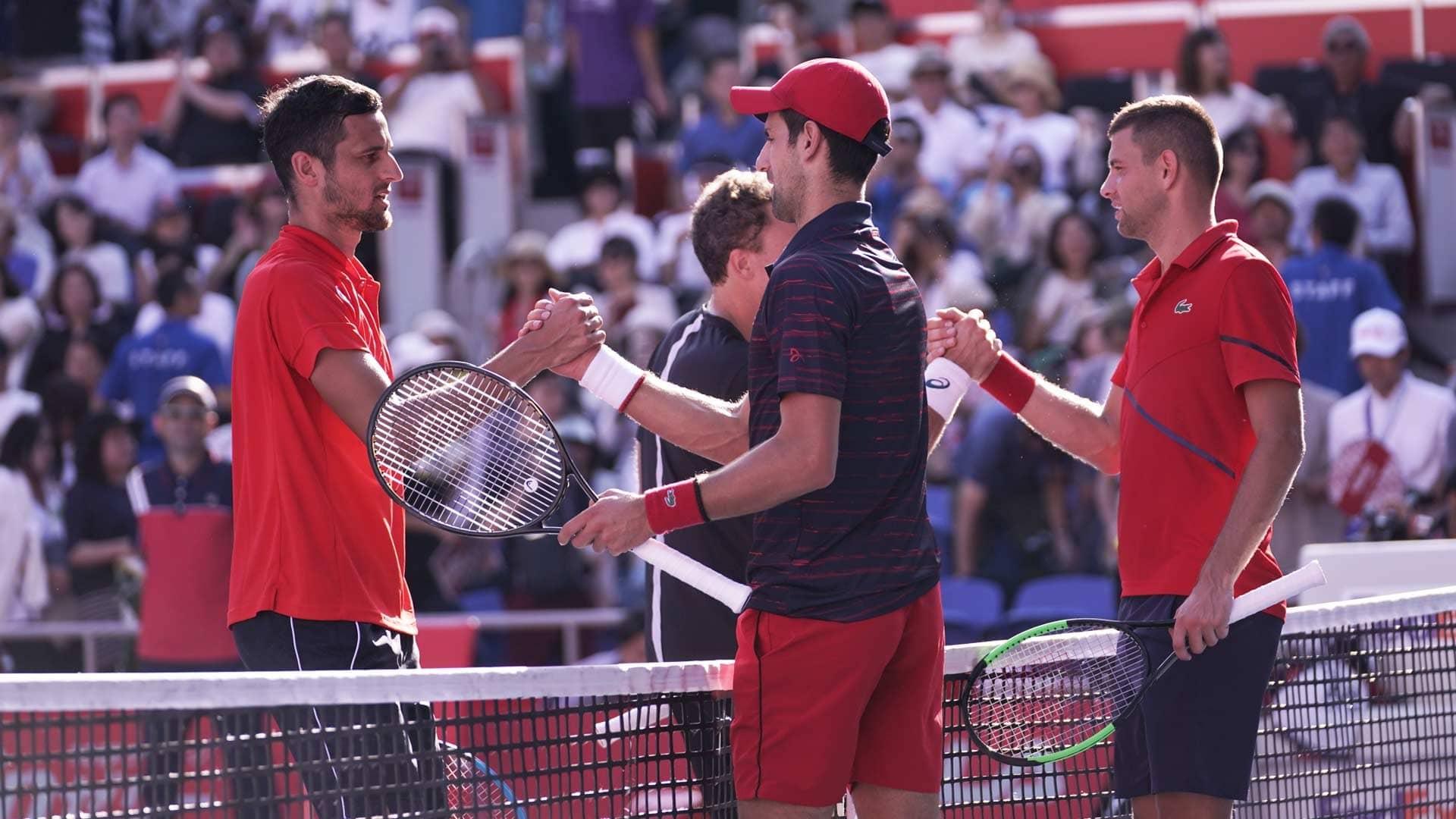 Pavic Soares Oust Djokovic Krajinovic In Tokyo Atp Tour Tennis