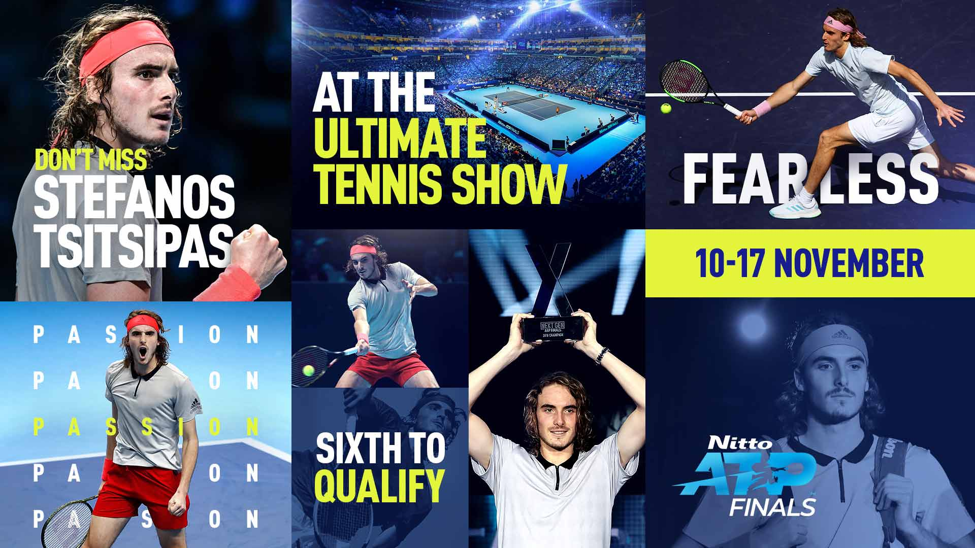 Stefanos Tsitsipas Qualifies For Nitto Atp Finals For First Time Atp Tour Tennis