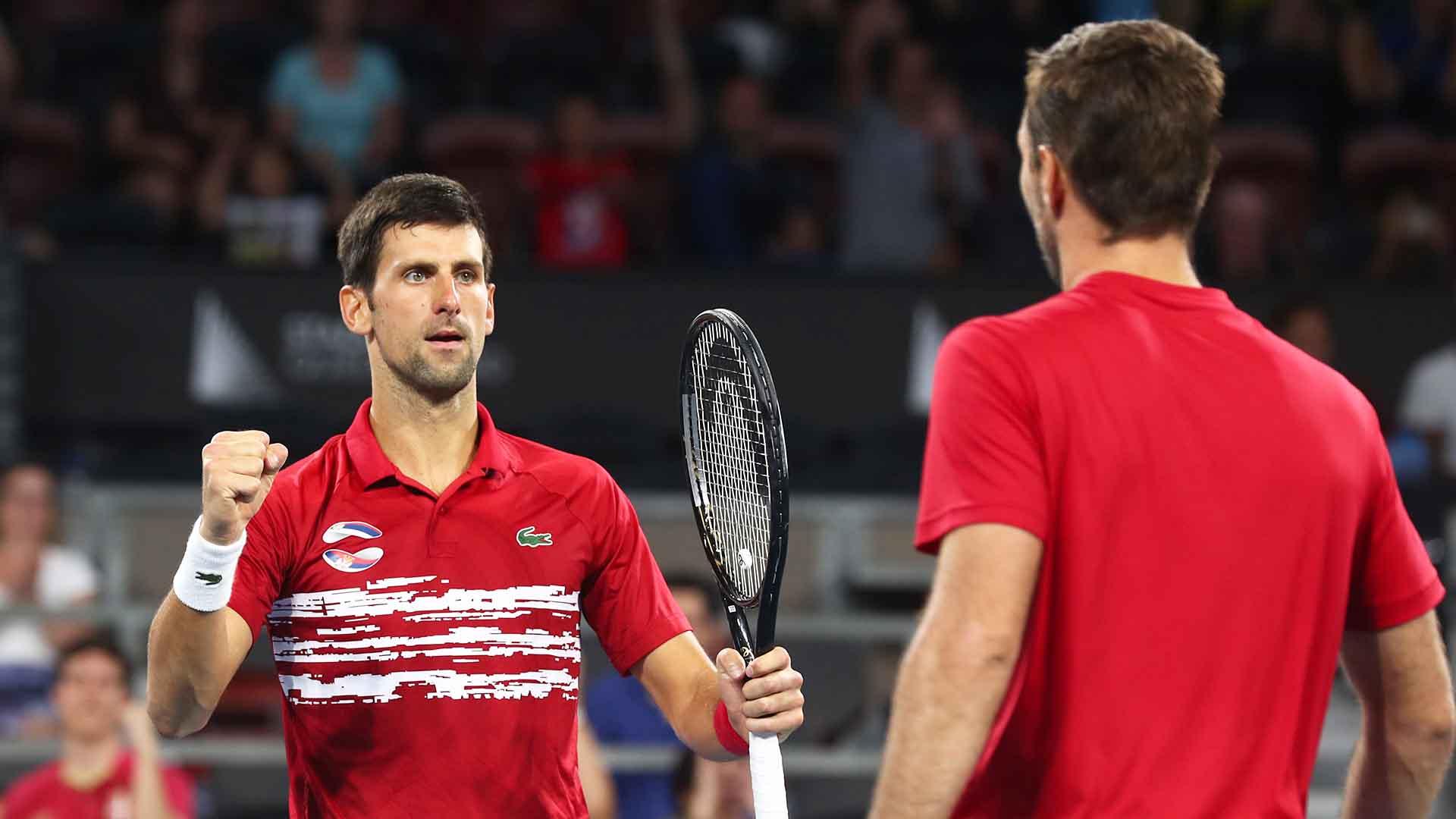 Novak Djokovic Double Duty Sends Serbia To Sydney In Atp Cup Atp Tour Tennis