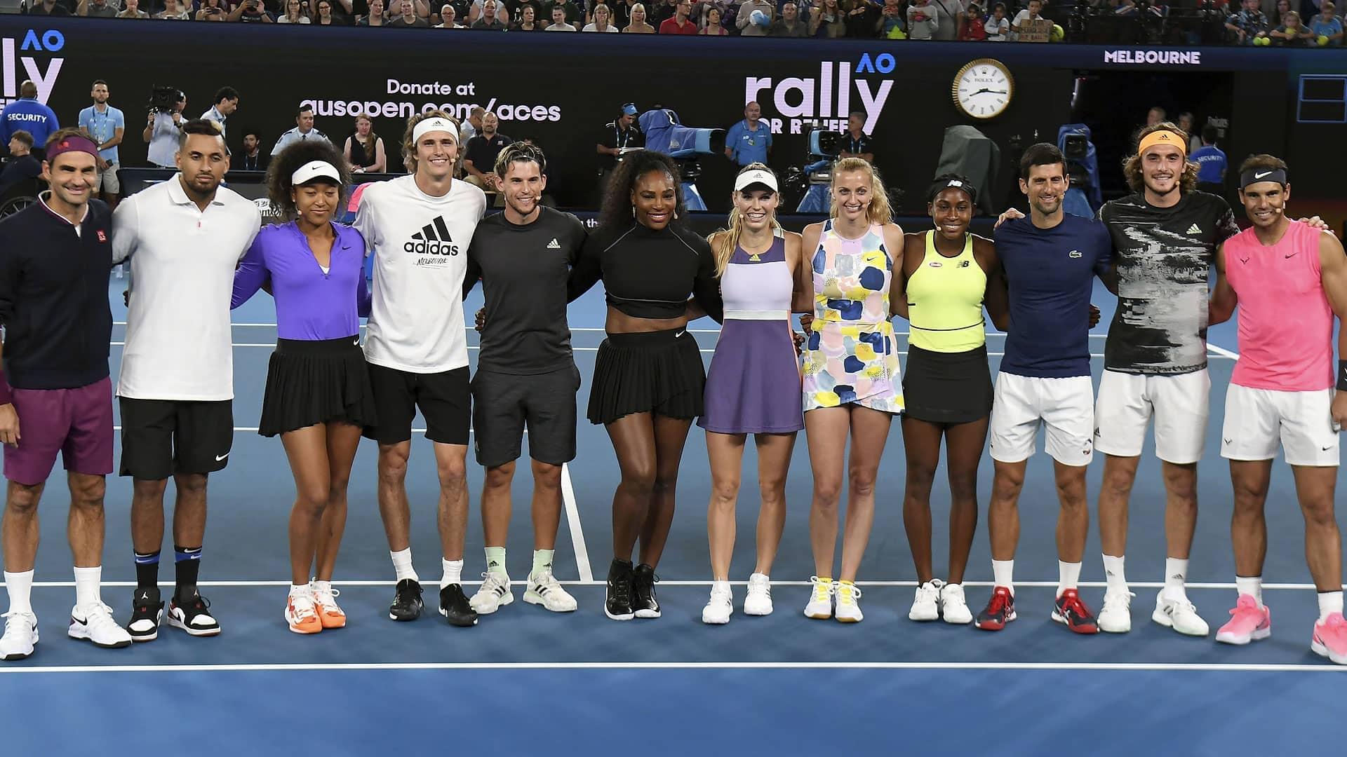 Rafael Nadal Novak Djokovic Roger Federer Wta Stars Join