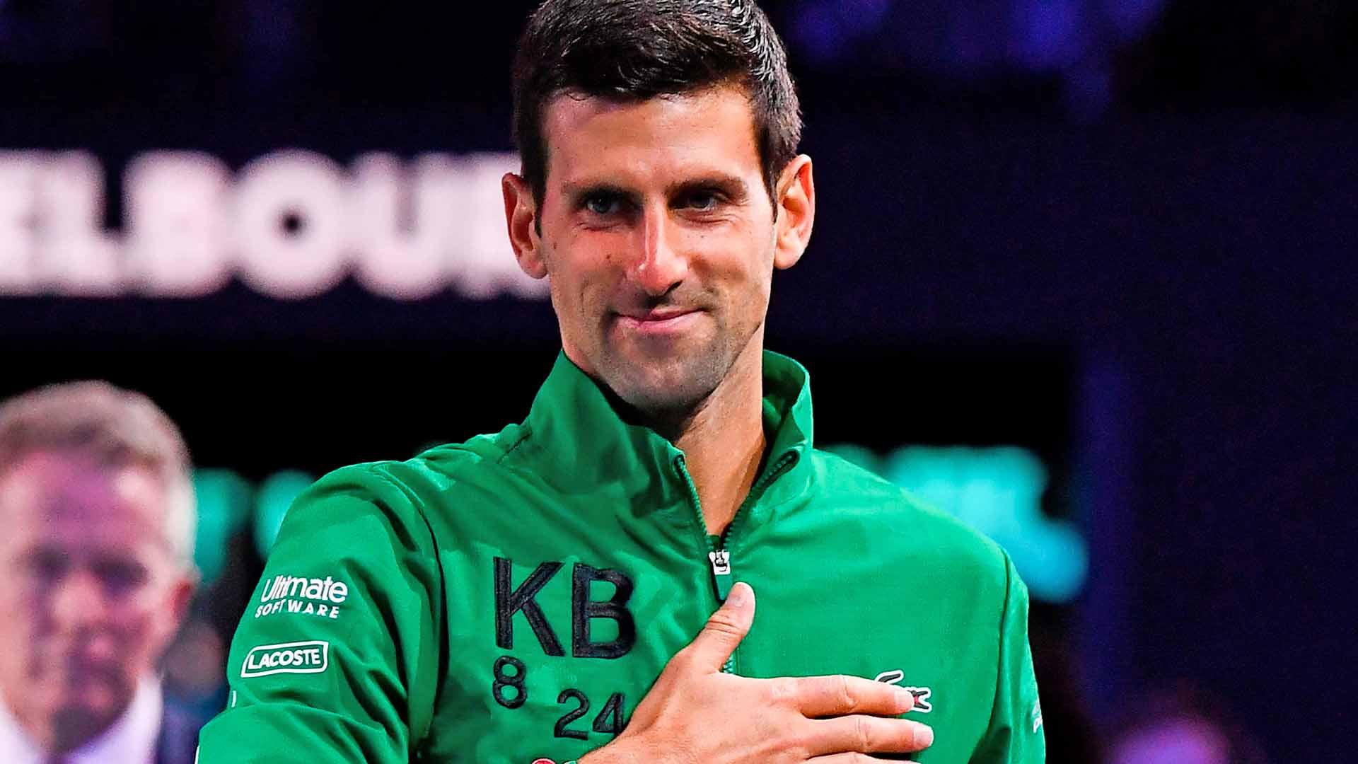 Novak Djokovic Pays Tribute To Kobe Bryant Bushfire Victims In Australian Open Victory Speech Atp Tour Tennis
