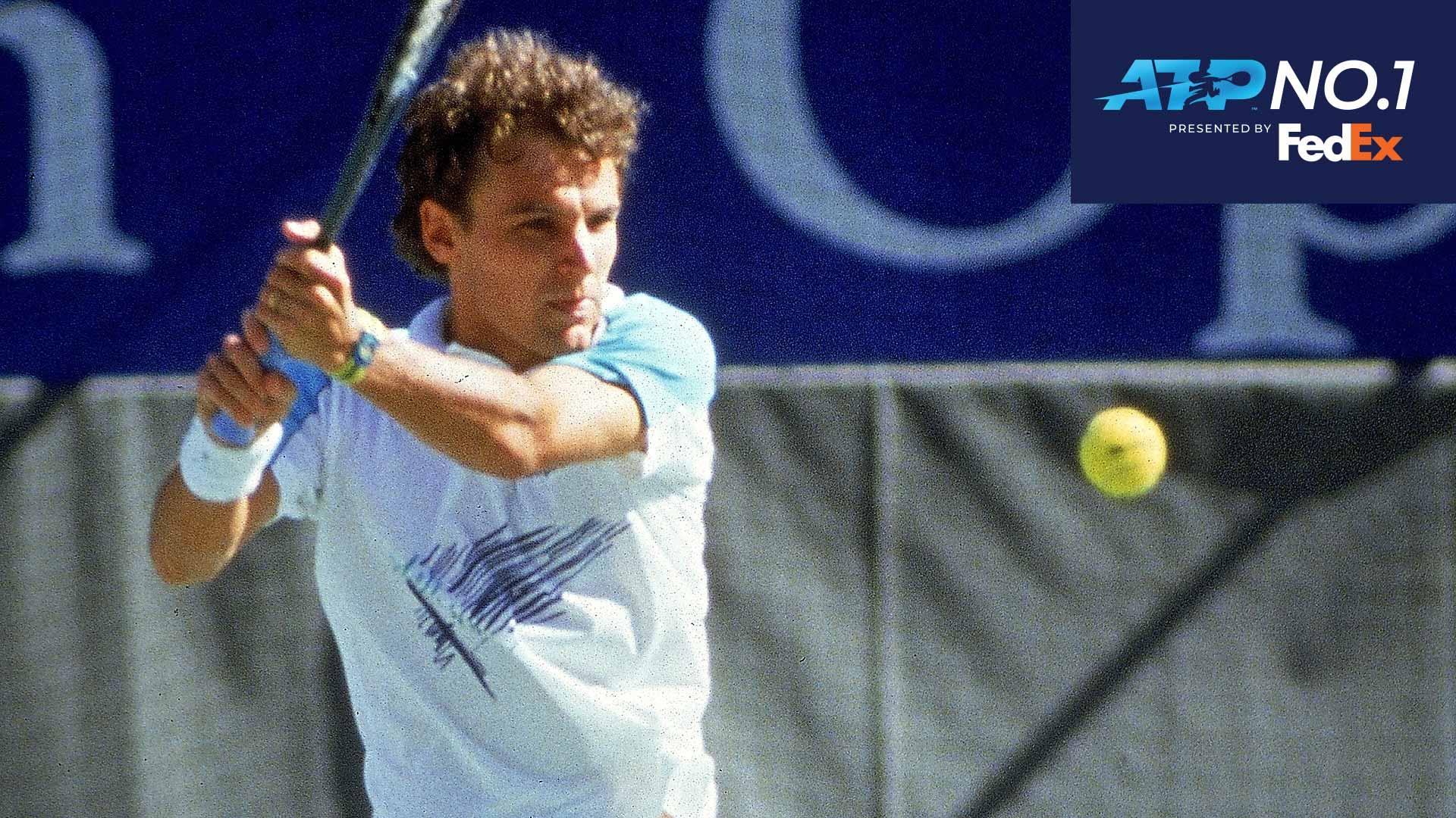 Atp Heritage Mats Wilander At No 1 In Fedex Atp Rankings Atp Tour Tennis