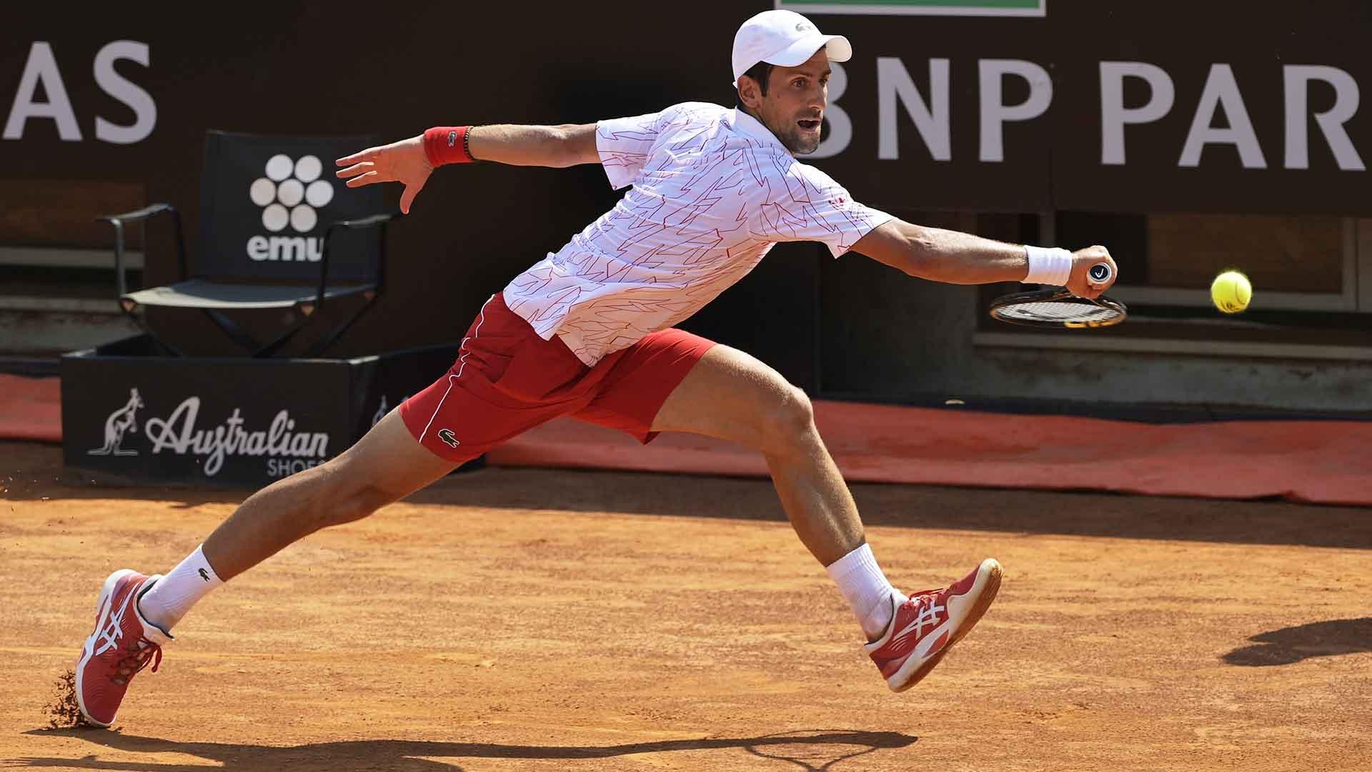 Novak Djokovic Survives Filip Krajinovic Battle Returns To Rome Quarter Finals Atp Tour Tennis