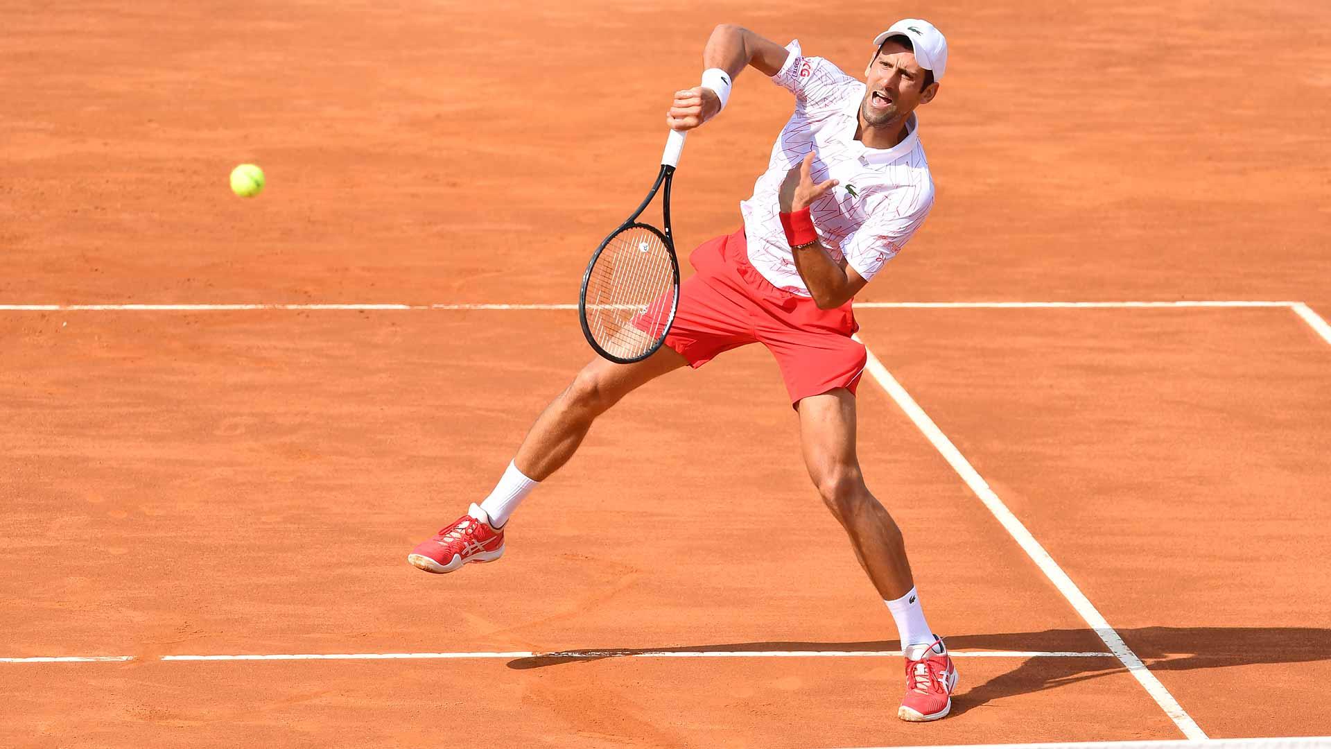 Double Digits Novak Djokovic Advances To 10th Rome Final Atp Tour Tennis
